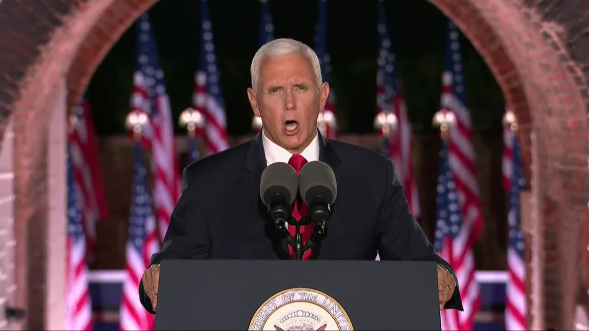 Vice President Mike Pence made his re-election pitch in night 3 of the RNC.