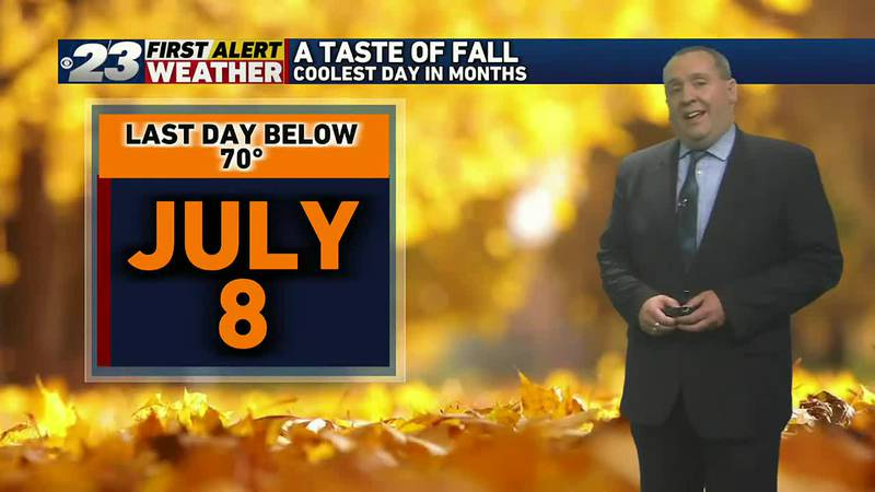 Tuesday featured the Stateline's coolest temperatures in more than two months.