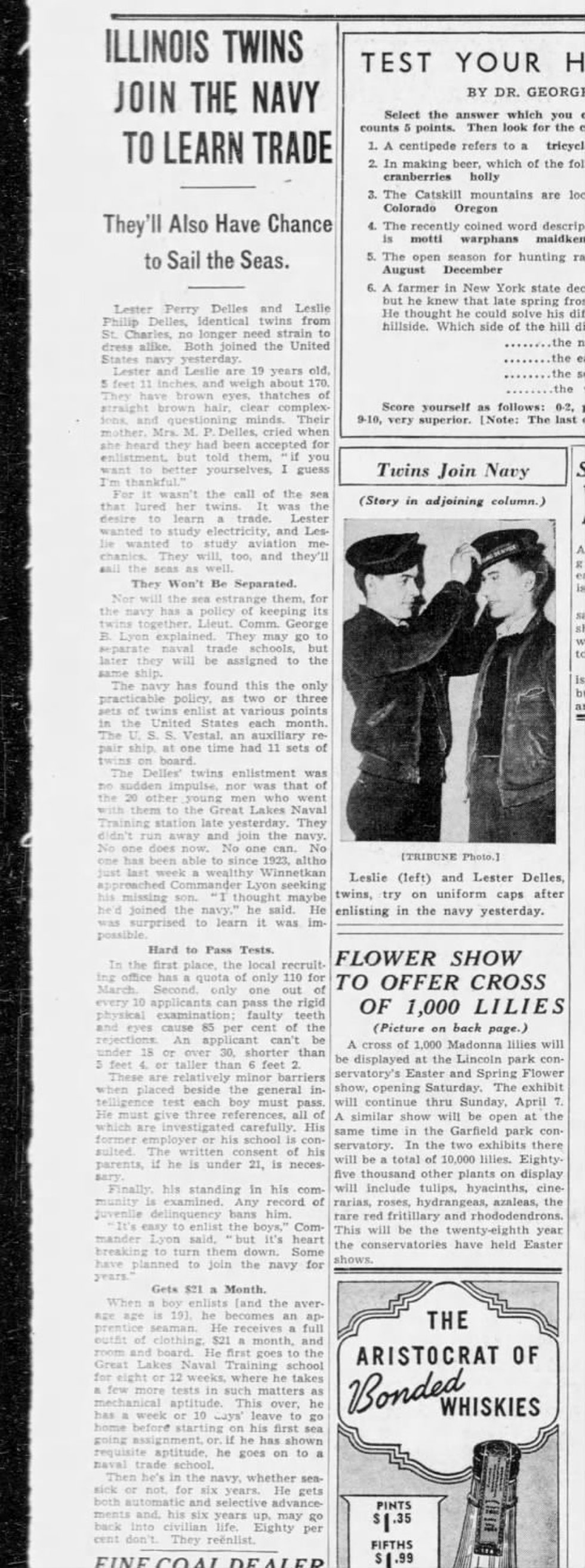 Navy Electrician's Mate 3rd Class Leslie P. Delles, 21, of St. Charles, Illinois.