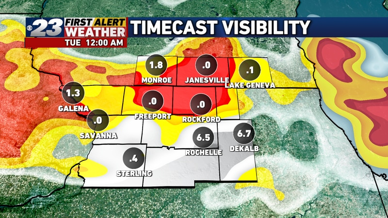 Fog may become thick as we reach closer to midnight and beyond.