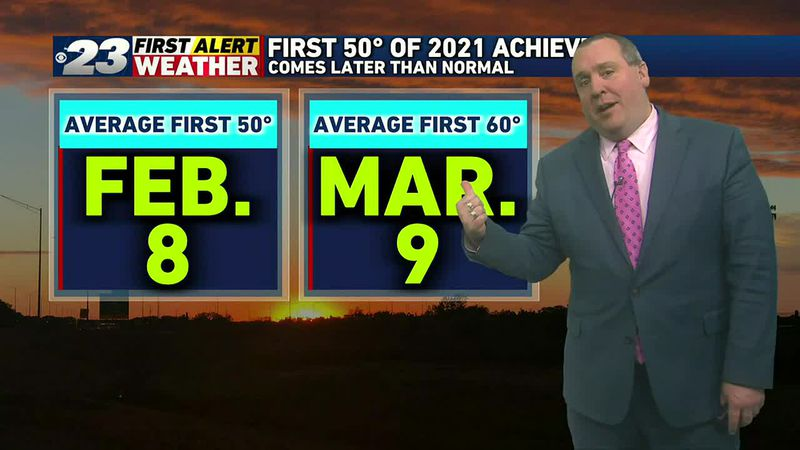 We were long overdue for our first 50° of 2021, but our first 60° may come right on schedule!
