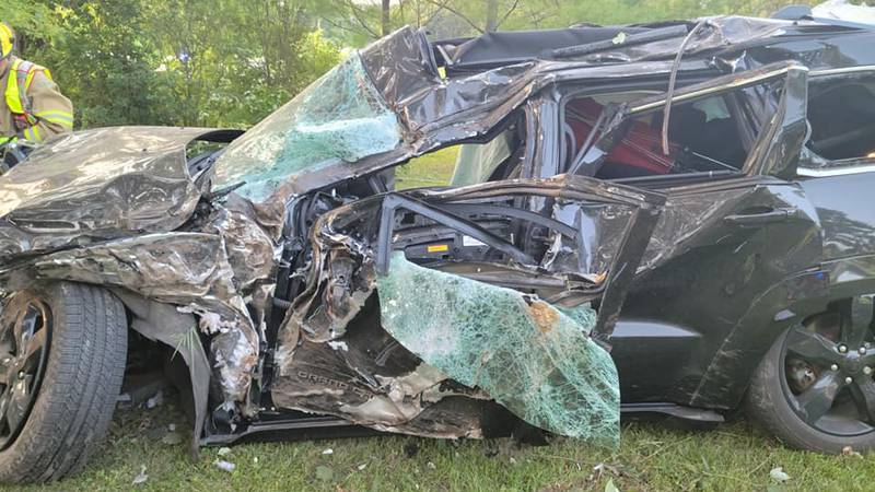One person was transported by lifeline ambulance after a crash in Boone County on Sunday.
