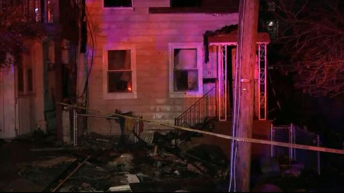 New York police say a man stabbed his wife and then set their house on fire. (Source: WABC/CNN)