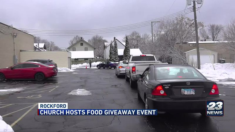 Rockford church gives out free food