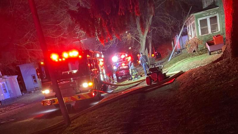 A 38-year-old Freeport man is killed in a house fire.