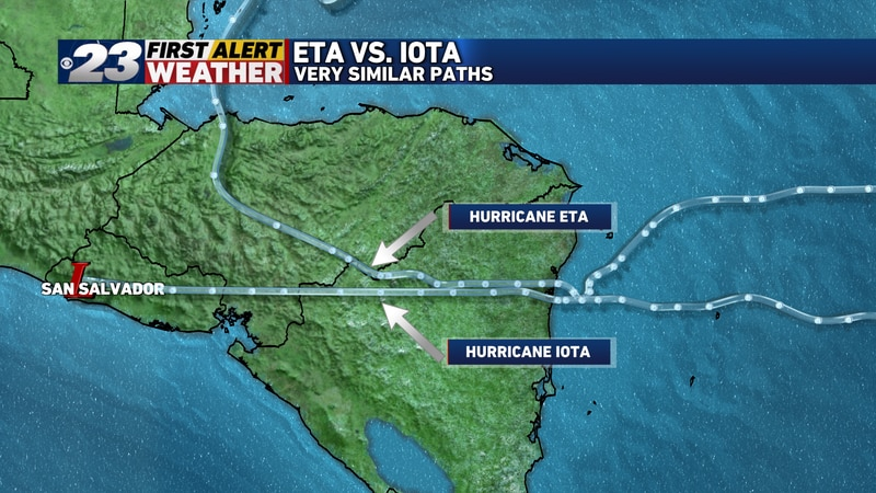 Both hurricane brought devastation to the same regions of Central America.