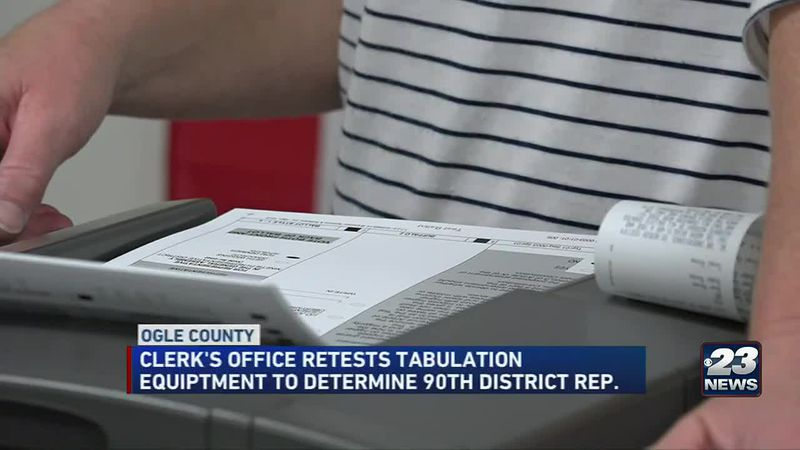 Ballot counting isn't over for the Ogle County Clerk's Office as an error on election night...