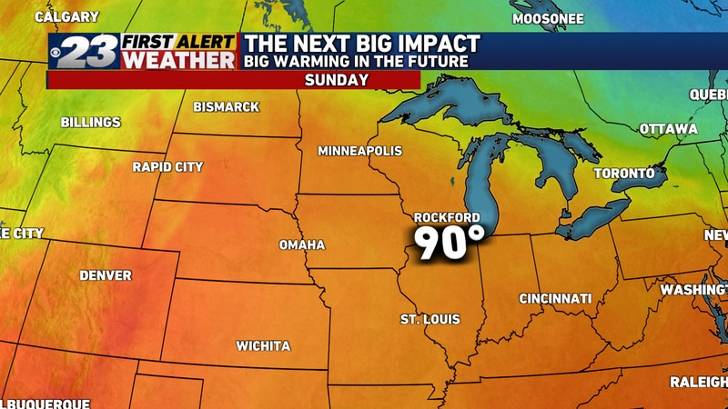 If we don't hit 90° Saturday, we'll almost certainly do so Sunday.