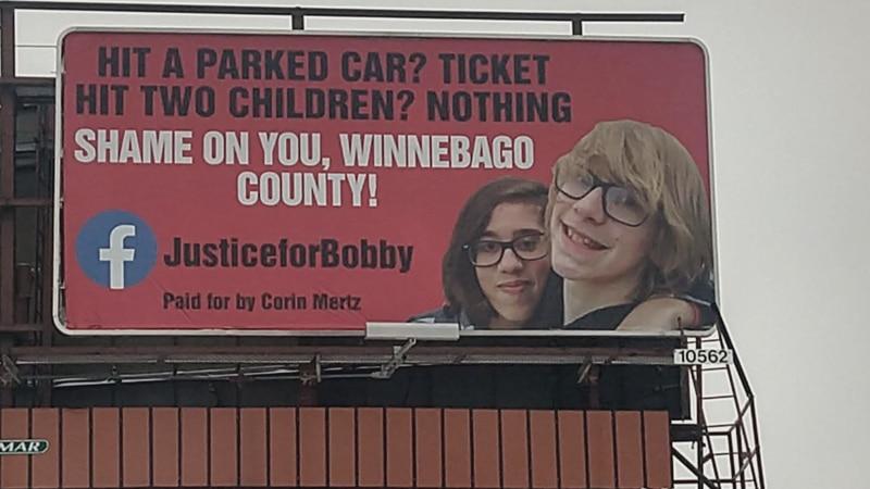 The billboard is designed to inspire awareness.