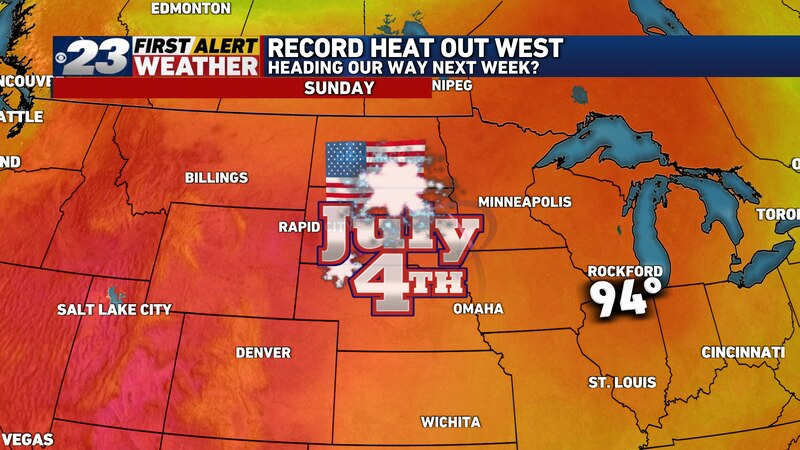 A hot and somewhat humid day is ahead for July 4, 2021 on Sunday.