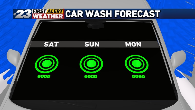 The next few days mark a great time to take your car to the car wash.