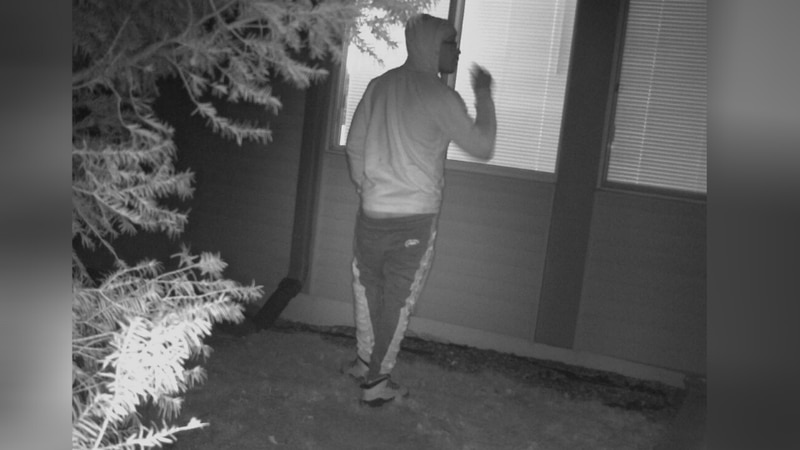 The Janesville Police Department are warning of a man who was seen peering into a home.