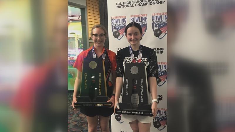 Harlem's Olivia Watton defeated teammate Jocelyn Eggert to capture the U.S. High School Bowling...