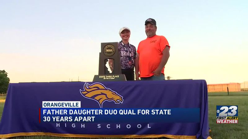 McKayla and Dan Riemer own the only two state trophies in school history