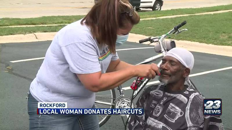 Rockford woman offers free haircuts to those in need.