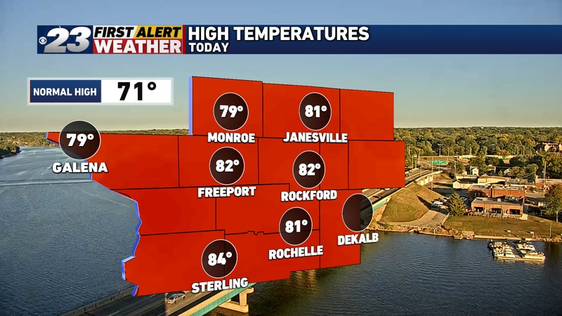 Another unseasonably warm day is in the books in the Stateline.