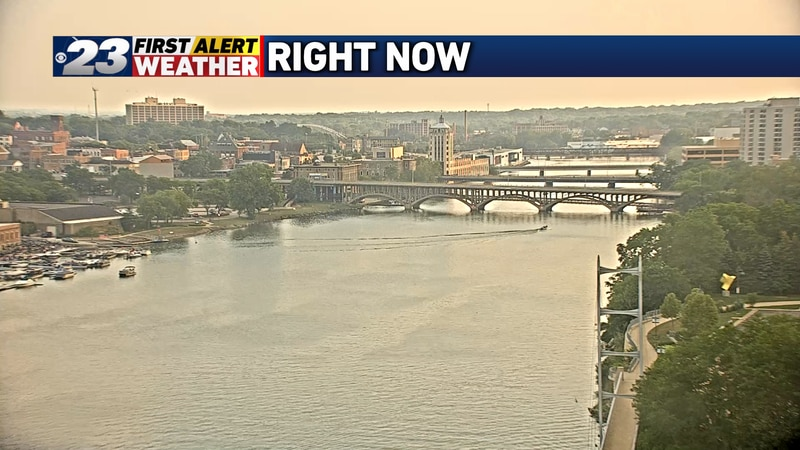 Nothing captures the smoky haze better than our south-facing RiverCam.
