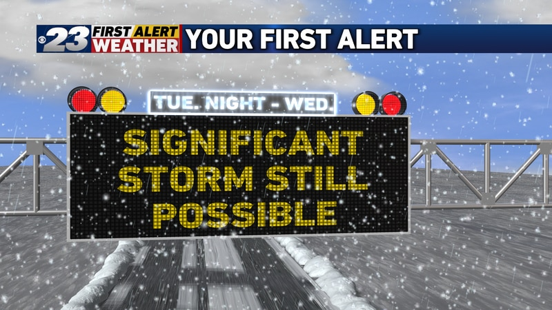 Though not likely a blockbuster snow producer here, the storm still appears likely to deliver...