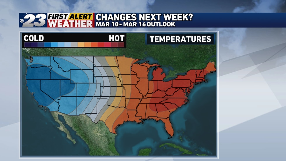 The above normal temperatures aren't going anywhere anytime soon.