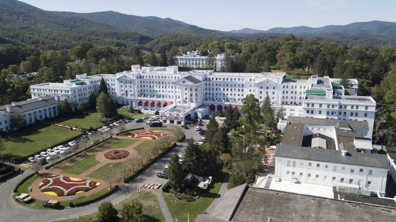 This Sept. 15, 2019 file photo shows The Greenbrier resort nestled in the mountains in White...
