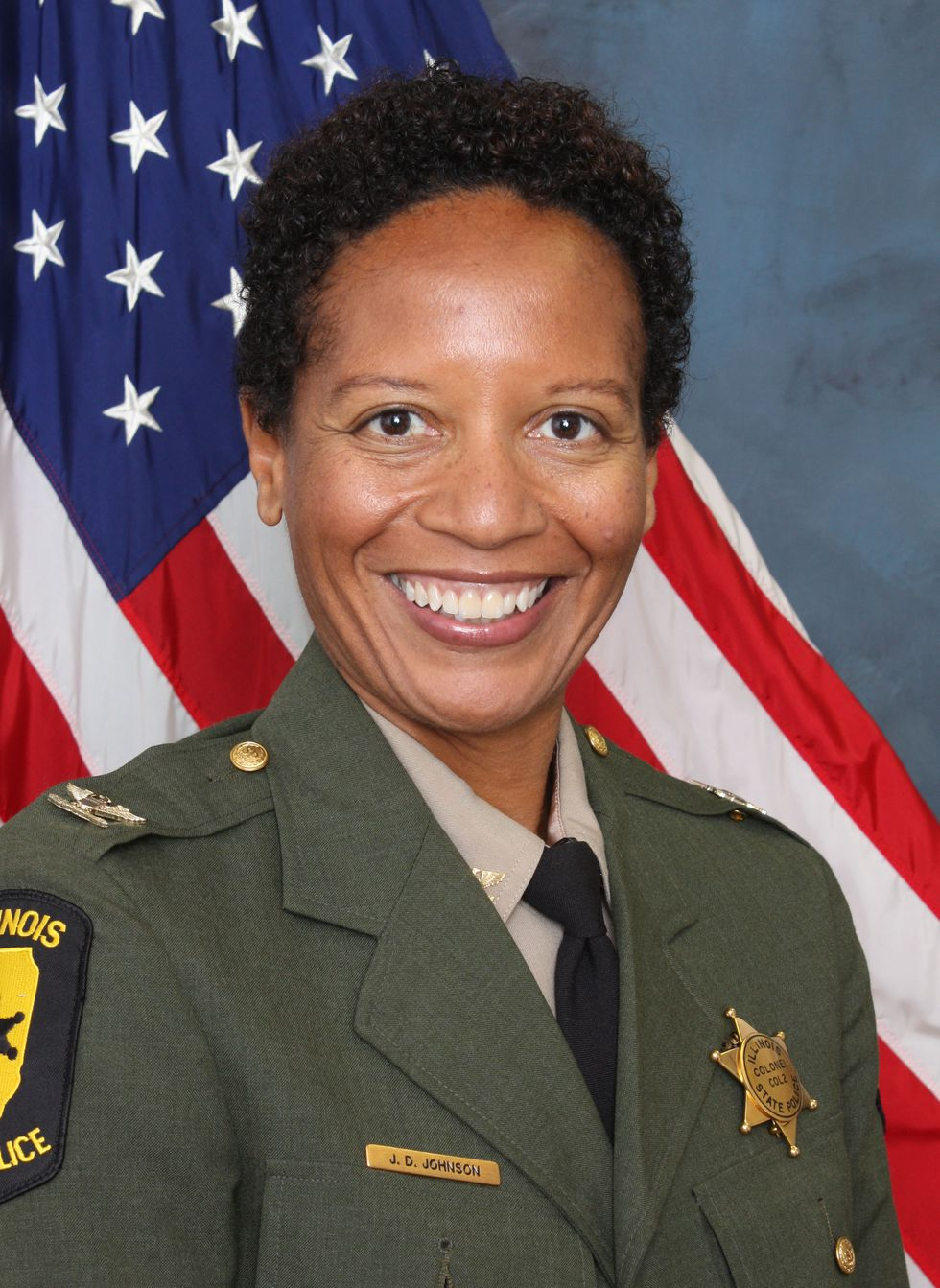 Ret. Colonel JoAnn Johnson the first African-American female to attain the high-ranking position.