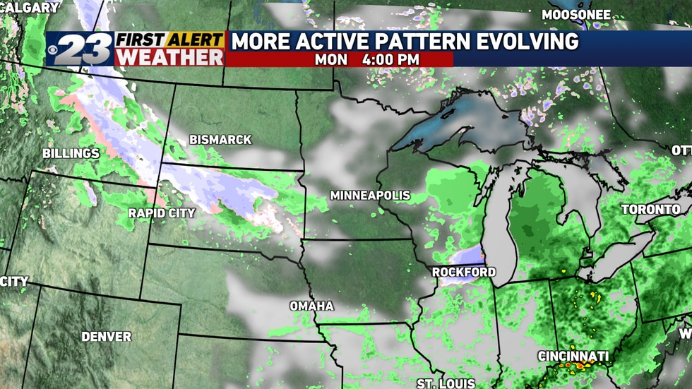 Later in the afternoon, it's possible there could be several snowflakes mixing in with the rain.