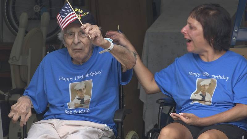 """Bob """"Spiffy"""" Salcido is now a centenarian, and to celebrate his 100th birthday, he was treated..."""