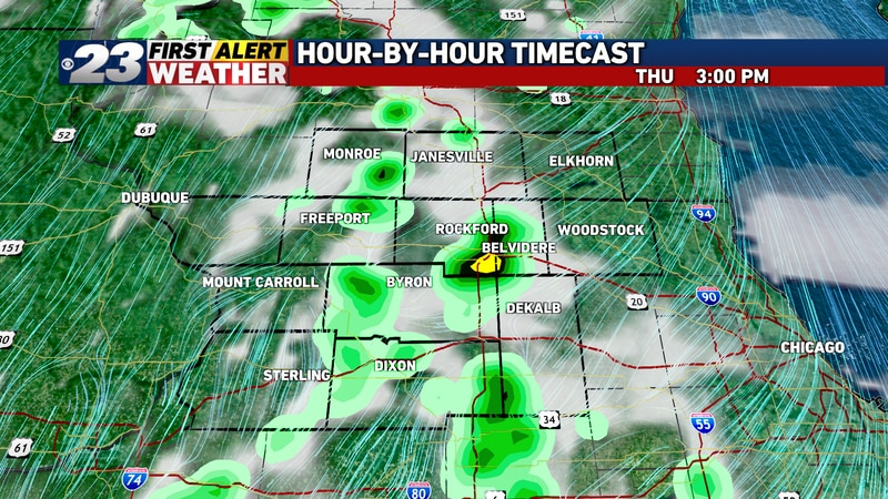 Once again, showers and t-storms may bubble in the afternoon, through not all of us will see...