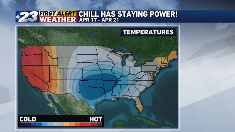While it doesn't look downright cold at any point during the next ten days, it surely doesn't...