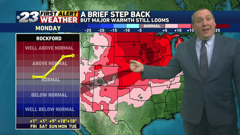 While seasonable temperatures are on tap the next two days, a huge surge of warmth is on the...