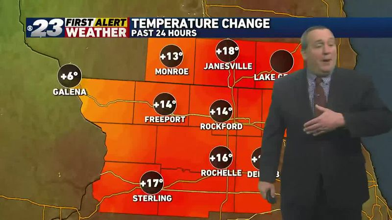 A warming trend's finally underway, and is poised to continue into the early part of the week.