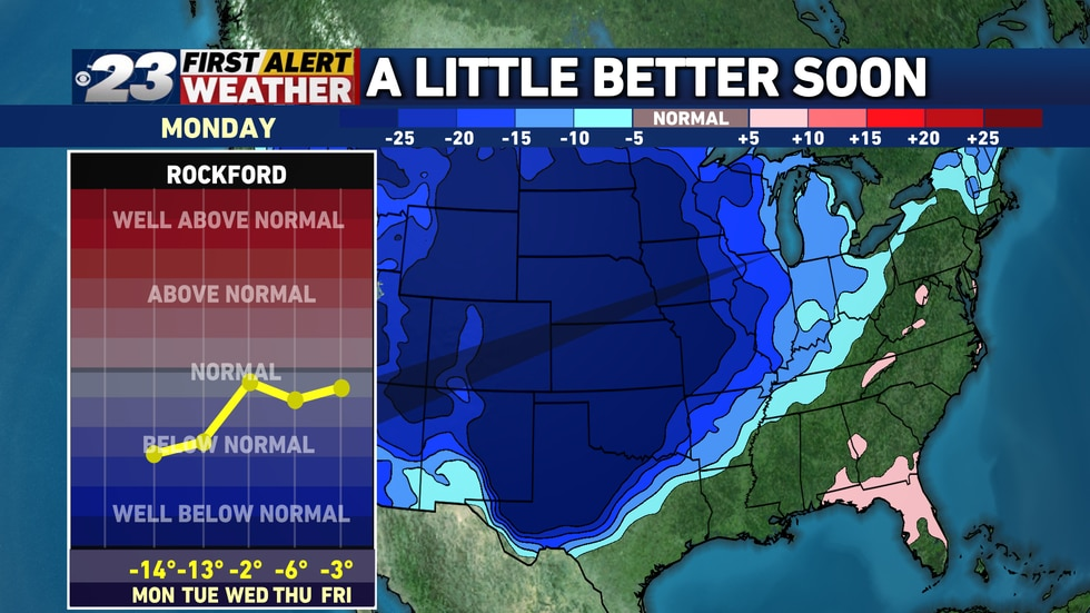 Before things get better in the temperature department, we'll have to endure two more...