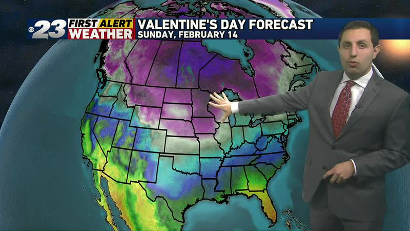 Very cold weekend ahead for Valentine's Day