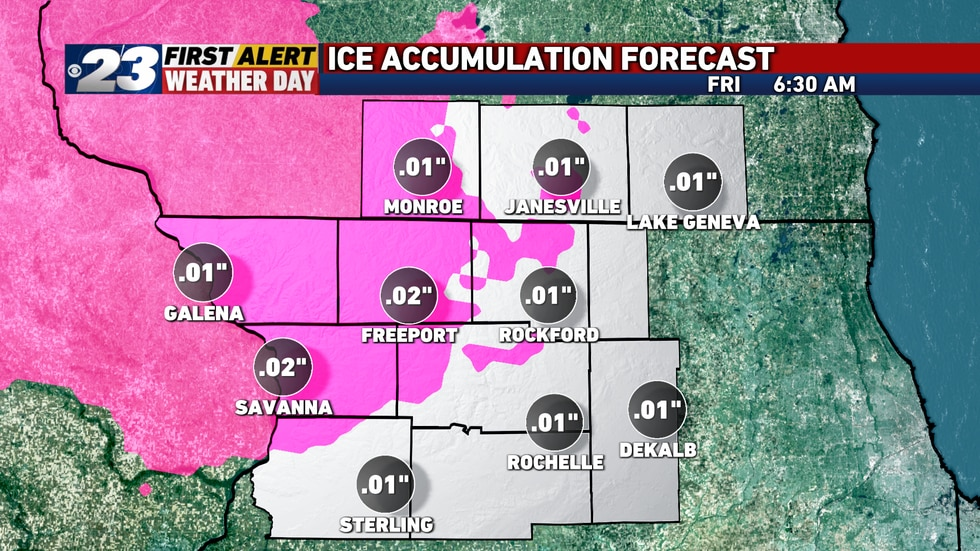 Ice accumulation is forecast to be modest, at best. However, even a little bit will be enough...