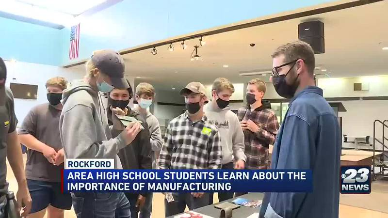 Area high school students learn about the importance of manufacturing