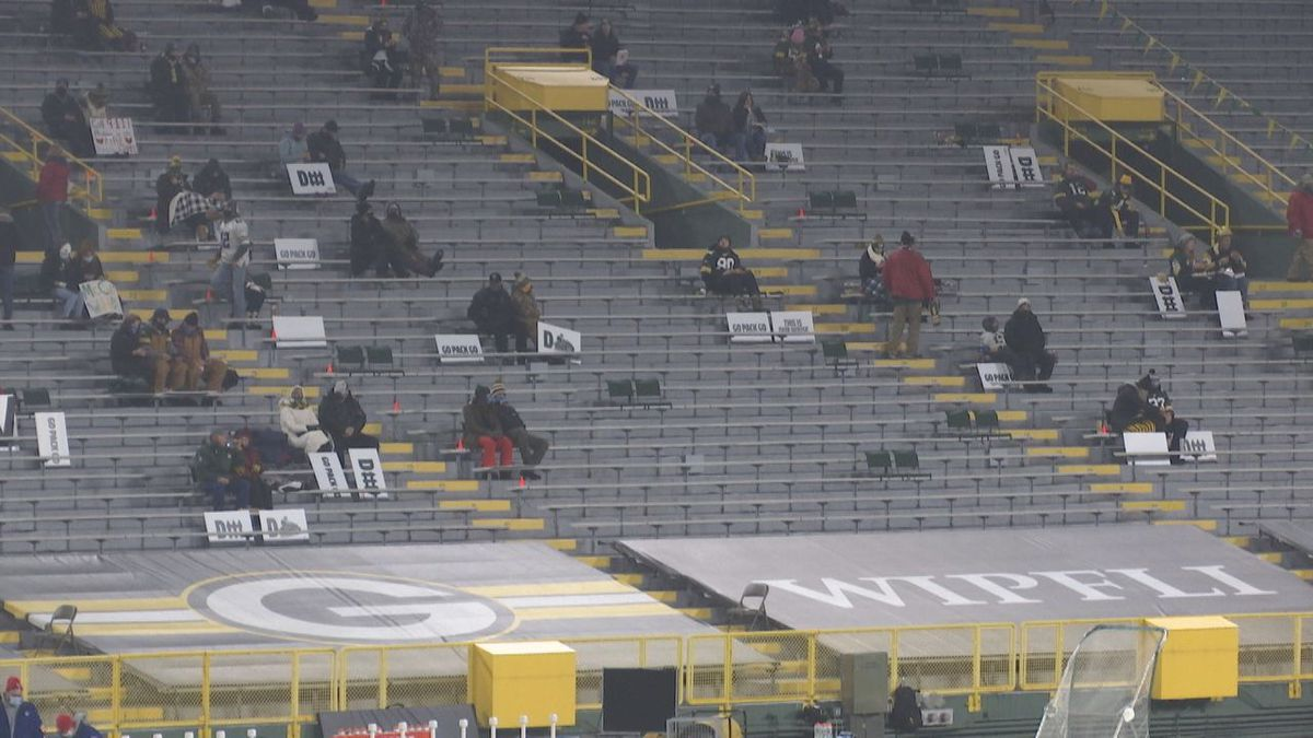 Frontline workers were invited to Saturday's Packers game at Lambeau Field.