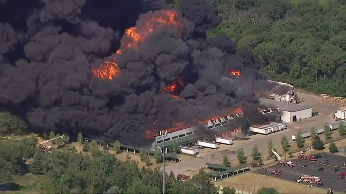 A massive fire erupted at a Chemtool plant in Illinois on Monday.
