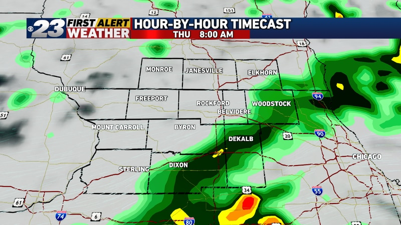Periods of showers and storms are expected Thursday. Severe weather is not expected, but gusty...