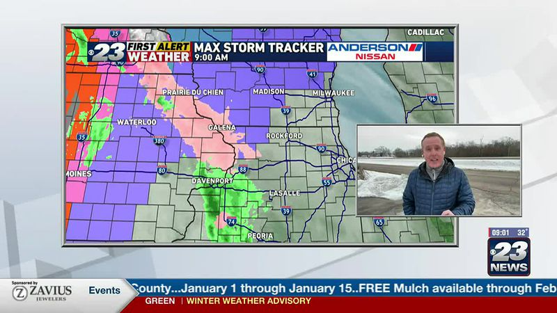 FIRST ALERT WEATHER DAY: A Wintry Mix will change to Snow this Evening