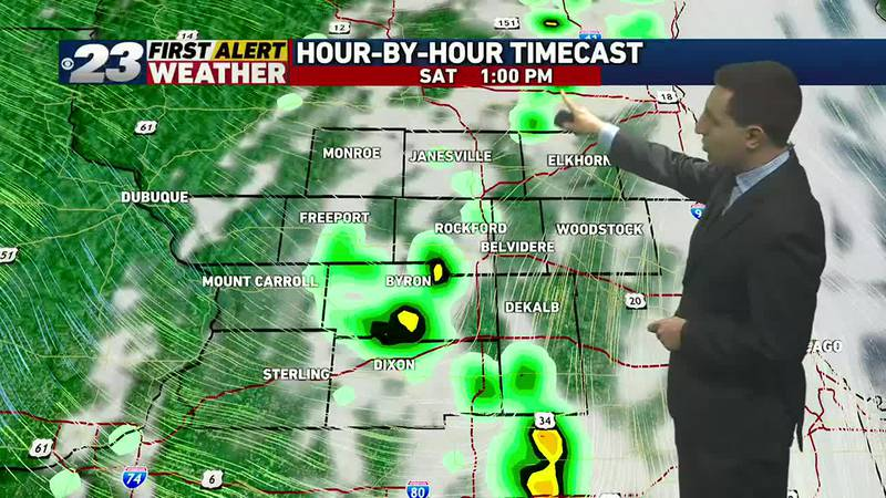 A few storms possible Saturday