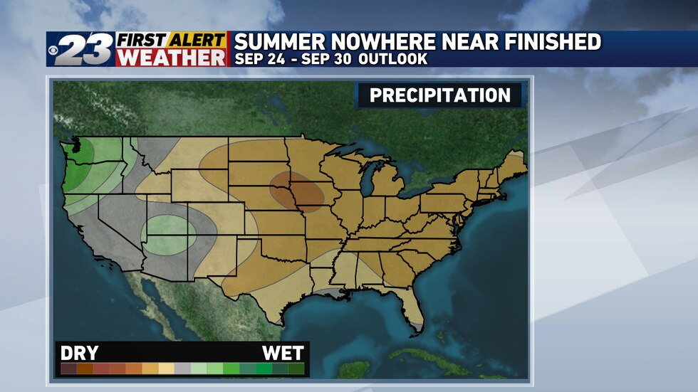 Not only does the pattern look to remain warm through the end of the month, it also looks to be extremely dry.