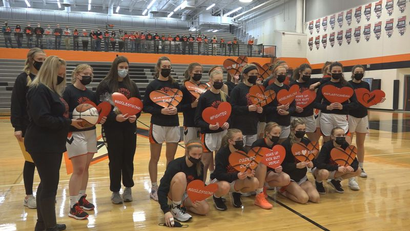 Instead of having a Senior Night on Wednesday, the girls team honored the family of Winnebago...