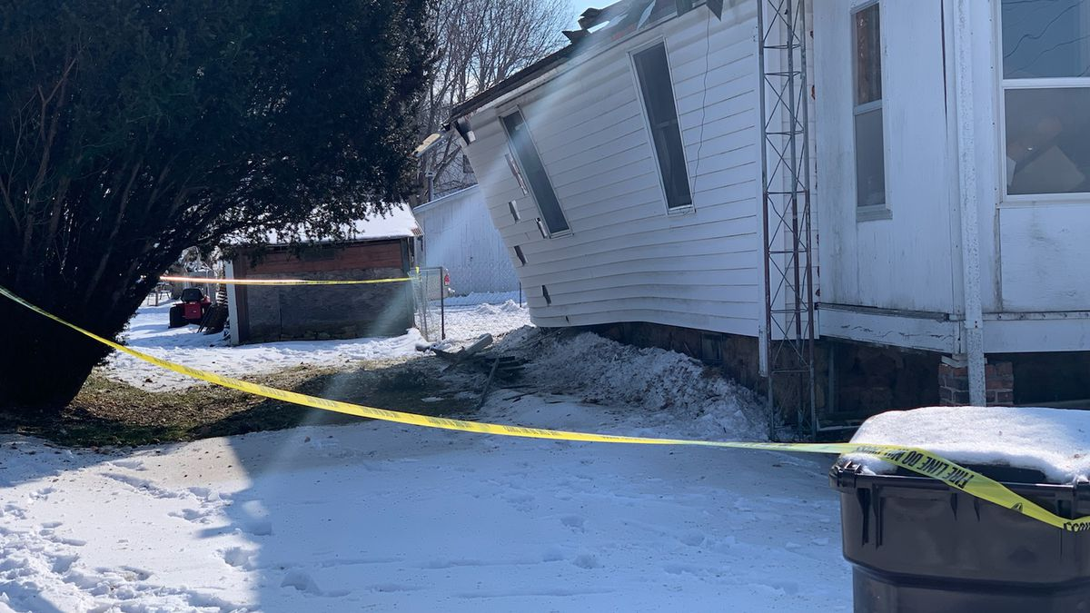 An explosion rocked a house on Tuesday, Feb. 11, 2020, at the corner of Pierce and North Turner in Freeport.