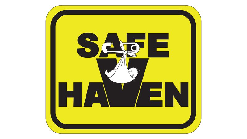 A logo used at health care facilities that will take in a newborn baby under Iowa's safe haven...