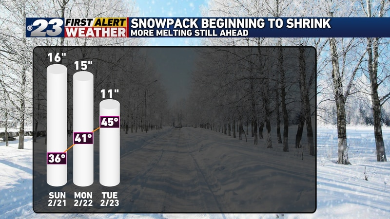 We've shaved five inches off our snowpack  over just the past two days.