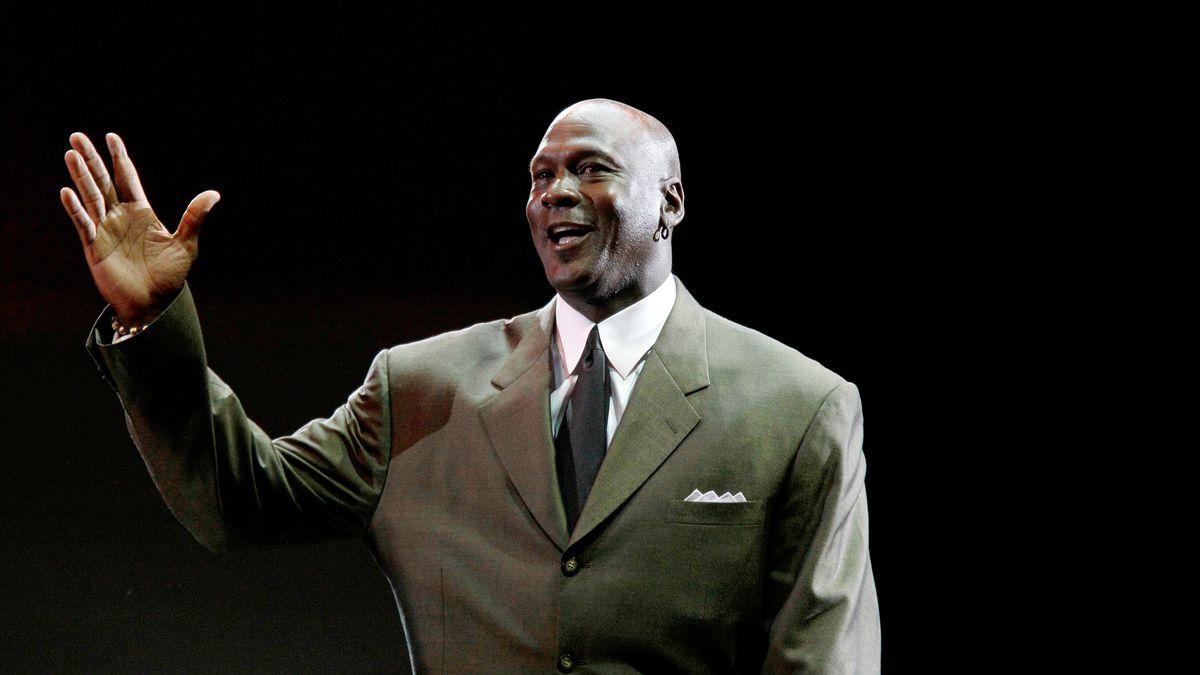Michael Jordan. (AP Photo/Charles Rex Arbogast)