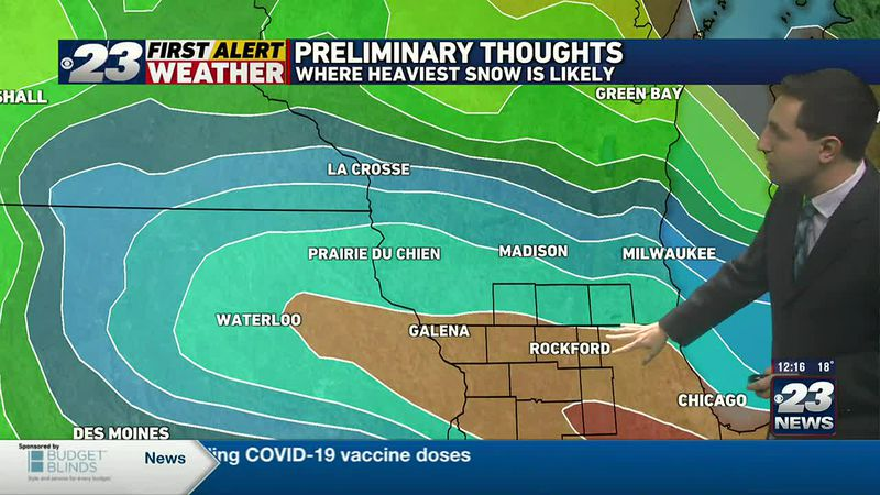 Preliminary Thoughts on Saturdays Snow