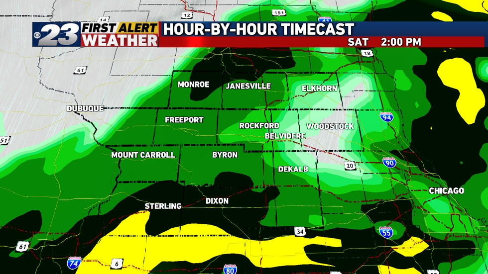 Steady light to moderate rain is to continue well into the afternoon hours Saturday, and quite...
