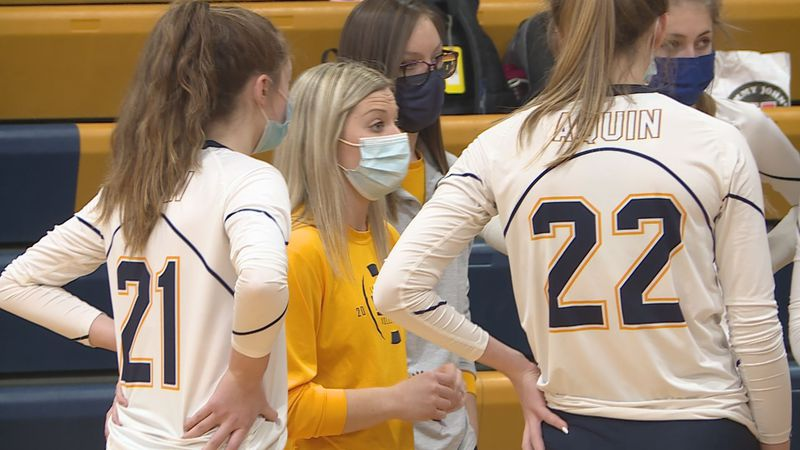 Aquin stayed unbeaten in the NUIC after a straight sets win against Dakota.