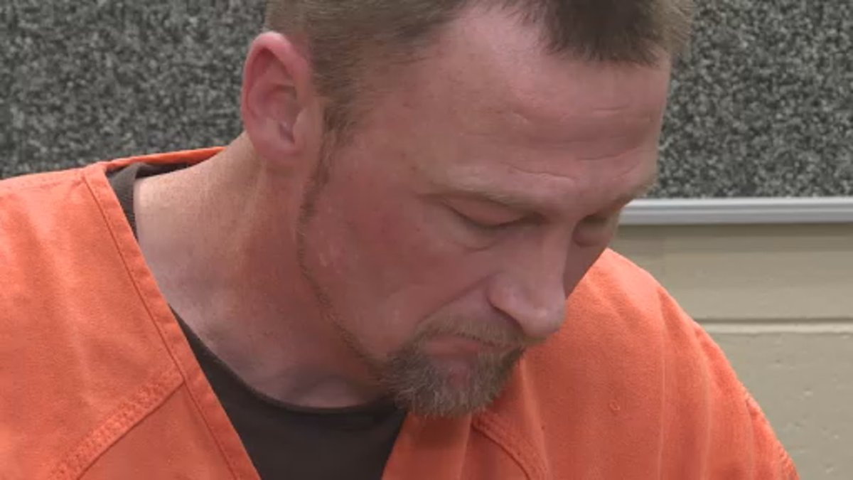 """Jeremey Duncan, an inmate at the Rock Co. Jail, recites his poem """"The Door."""""""